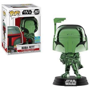 スターウォーズ Star Wars フィギュア ボブルヘッド POP! Boba Fett Exclusive Vinyl Bobble Head #297 [Green Chrome]|fermart-hobby