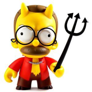 ザ シンプソンズ The Simpsons キッドロボット Kidrobot フィギュア おもちゃ Devil Flanders 7-Inch Vinyl Medium Figure|fermart-hobby