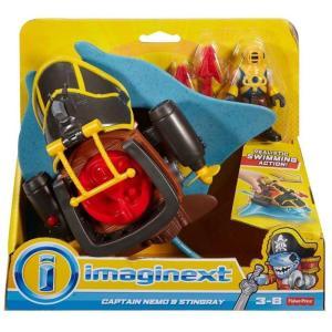 イメージネクスト Imaginext フィギュア Captain Nemo & Stingray Figure Set fermart-hobby