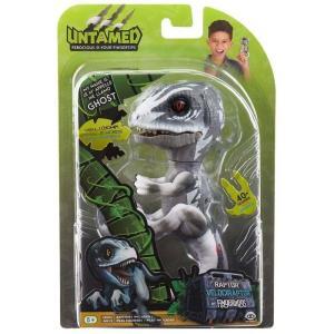 ゴースト Ghost フィギュア Fingerlings Untamed Dinosaur the Velociraptor Figure [Gray] fermart-hobby
