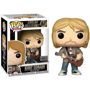 カート コバーン Kurt Cobain ファンコ Funko フィギュア おもちゃ Nirvana POP! Rocks Exclusive Vinyl Figure #67 [Brown Guitar, MTV Unplugged]|fermart-hobby