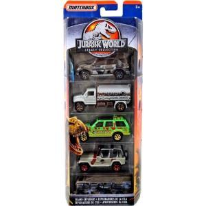 マッチボックス Matchbox おもちゃ・ホビー Jurassic World Legacy Collection Island Explorers Diecast Vehicle 5-Pack|fermart-hobby