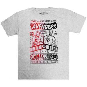 アイアンマン Iron Man マーベル Marvel メンズ Tシャツ トップス Avengers vs. Ultron Exclusive T-Shirt [Large]|fermart-hobby