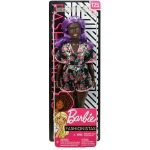 バービー Barbie ぬいぐるみ・人形 Fashionistas 13.25-Inch Doll #125 [Purple Hair, Floral Dress]|fermart-hobby