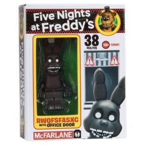 ファイヴナイツアットフレディーズ Five Nights at Freddy's マクファーレントイズ フィギュア おもちゃ RWQFSFASXC with Office Door Micro Figure Build Set|fermart-hobby