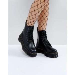 ドクターマーチン Dr Martens レディース ブーツ シューズ・靴 Jadon Flatform Chunky Boots Black polished smoot|fermart-shoes