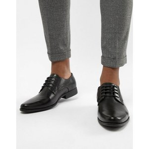 エイソス メンズ シューズ・靴 ASOS Derby Shoes In Black Faux Leather Black|fermart-shoes