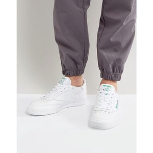 リーボック メンズ スニーカー シューズ・靴 Reebok Club C 85 Trainers In White AR0456 White|fermart-shoes