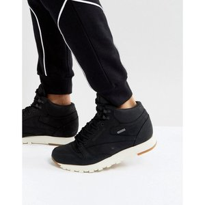 リーボック メンズ スニーカー シューズ・靴 Reebok Classic Leather Mid GTX Trainers In Black BS7883 Black|fermart-shoes