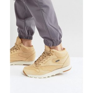 リーボック メンズ スニーカー シューズ・靴 Reebok Classic Leather Mid GTX Trainers In Tan BS7882|fermart-shoes