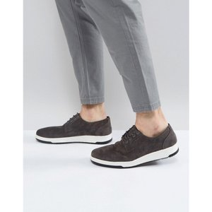 エイソス メンズ 革靴・ビジネスシューズ シューズ・靴 ASOS Casual Derby Shoes In Grey Suede With Ribbed Sole Grey|fermart-shoes