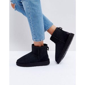 アグ レディース ブーツ シューズ・靴 UGG Classic Mini II Black Boots Black|fermart-shoes