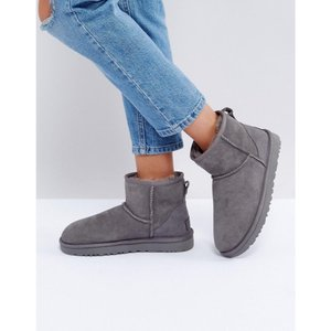アグ レディース ブーツ シューズ・靴 Classic Mini II Grey Boots Grey|fermart-shoes