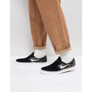 ナイキ メンズ スリッポン・フラット シューズ・靴 Zoom Stefan Janoski Slip-On Trainers In Black 833564-003 Black|fermart-shoes