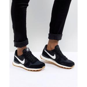 ナイキ レディース スニーカー シューズ・靴 Internationalist Nylon Trainers In Black And White Black|fermart-shoes