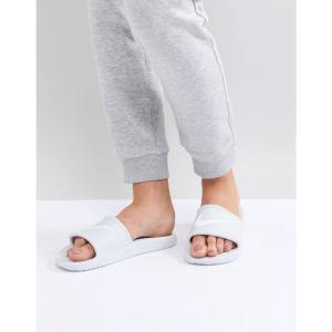 ナイキ レディース サンダル・ミュール シューズ・靴 Kawa Slider Sandals In White White|fermart-shoes