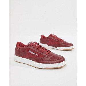 リーボック メンズ スニーカー シューズ・靴 Club C 85 Essential Trainers In Red CM8792 Red|fermart-shoes