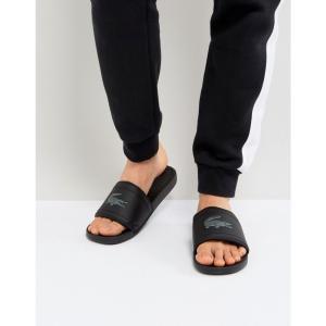 ラコステ Lacoste メンズ ビーチサンダル シューズ・靴 Fraisier croc sliders in black Black|fermart-shoes