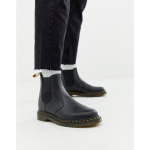 ドクターマーチン Dr Martens メンズ ブーツ シューズ・靴 faux leather 2976 chelsea boots in black smooth Black fermart-shoes