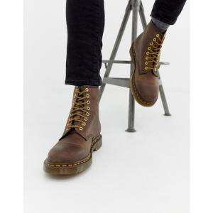ドクターマーチン Dr Martens メンズ ブーツ シューズ・靴 1460 8-eye boots in brown Brown fermart-shoes
