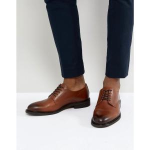 セレクテッド オム Selected Homme メンズ 革靴・ビジネスシューズ シューズ・靴 leather derby shoes Cognac|fermart-shoes