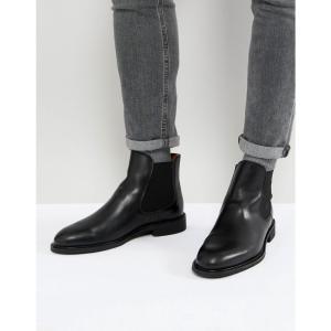 セレクテッド オム Selected Homme メンズ ブーツ シューズ・靴 leather chelsea boots Black|fermart-shoes