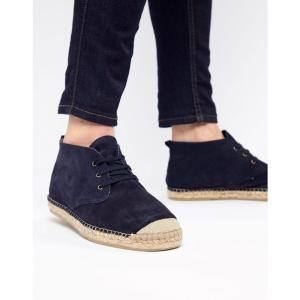 セレクテッド オム Selected Homme メンズ ブーツ シューズ・靴 Spanish Espadrille Chukka Boots Dark navy|fermart-shoes