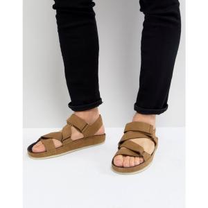 クラークス メンズ サンダル シューズ・靴 Ranger Nubuck Sandals In Tan|fermart-shoes