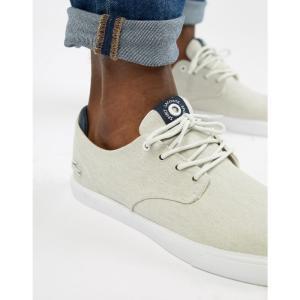ラコステ Lacoste メンズ スニーカー シューズ・靴 Esparre Canvas Plimsolls In White White|fermart-shoes