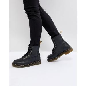 ドクターマーチン Dr Martens レディース ブーツ シューズ・靴 Lace Up 8 Eye Boot Black felix rub off|fermart-shoes