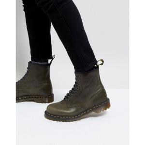 ドクターマーチン Dr Martens メンズ ブーツ シューズ・靴 1460 8-eye boots in dark taupe Brown fermart-shoes