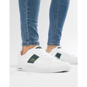 ラコステ Lacoste メンズ スニーカー シューズ・靴 Europa Trainers In White White|fermart-shoes