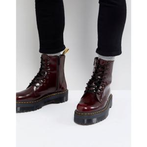 ドクターマーチン Dr Martens メンズ ブーツ シューズ・靴 faux leather Jadon II 8-eye platform boots in red Red fermart-shoes