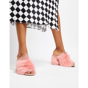 アグ UGG レディース サンダル・ミュール シューズ・靴 Exclusive Rosa Pink Fluff Heeled Mules Pink|fermart-shoes