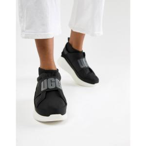 アグ UGG レディース スニーカー シューズ・靴 Neautra Black Chunky Logo Trainers Black|fermart-shoes