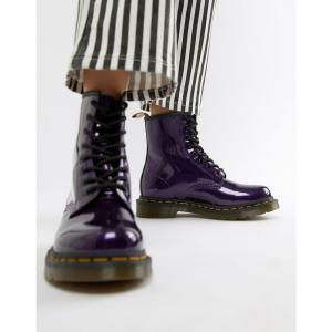 ドクターマーチン Dr Martens レディース ブーツ シューズ・靴 1460 Purple Chrome Flat Ankle Boots Dark purple|fermart-shoes