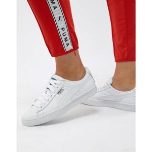 プーマ レディース スニーカー シューズ・靴 Puma Basket Classic White Trainers White fermart-shoes