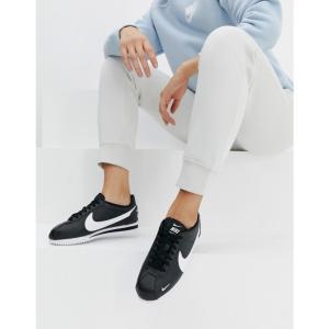 ナイキ Nike レディース スニーカー シューズ・靴 Black Classic Cortez Premium Black/white|fermart-shoes