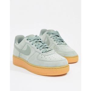 ナイキ Nike レディース スニーカー シューズ・靴 Green Air Force 1 Trainers With Gum Sole Gum lt brown|fermart-shoes