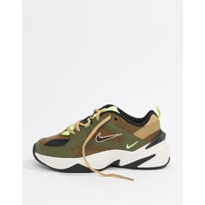 ナイキ Nike レディース スニーカー シューズ・靴 Khaki M2K Tekno Trainers Yukon brown|fermart-shoes