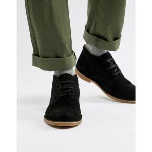 セレクテッド オム Selected Homme メンズ ブーツ シューズ・靴 suede desert boot with teddy lining Black|fermart-shoes