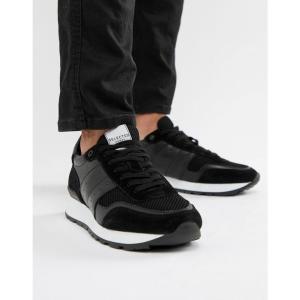 セレクテッド オム Selected Homme メンズ スニーカー シューズ・靴 Premium Runner Trainer Black|fermart-shoes