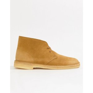 クラークス Clarks Originals メンズ ブーツ シューズ・靴 desert boots in oak suede Beige|fermart-shoes
