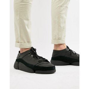クラークス Clarks Originals メンズ スニーカー シューズ・靴 Trigenic Evo trainers in black leather Black|fermart-shoes