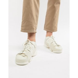 クラークス Clarks Originals メンズ スニーカー シューズ・靴 Trigenic Evo trainers in all white leather White|fermart-shoes