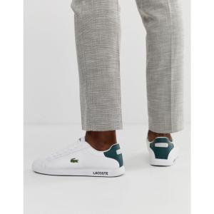 ラコステ Lacoste メンズ スニーカー シューズ・靴 Graduate LCR3 118 1 trainers in white White|fermart-shoes
