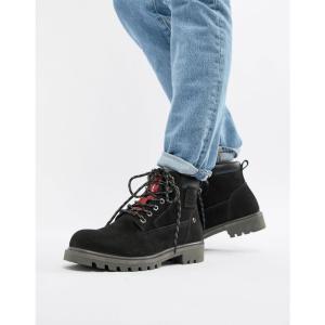 リーバイス Levis メンズ ブーツ シューズ・靴 Levi's hodges leather boot in black Brilliant black|fermart-shoes