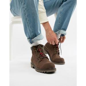 リーバイス Levis メンズ ブーツ シューズ・靴 Levi's hodges leather boot in dark brown Dark brown|fermart-shoes