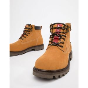 リーバイス Levis メンズ ブーツ シューズ・靴 Levi's hodges leather boot in light brown Medium yellow|fermart-shoes