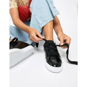 プーマ Puma レディース スニーカー シューズ・靴 Basket Heart trainer in black Black fermart-shoes